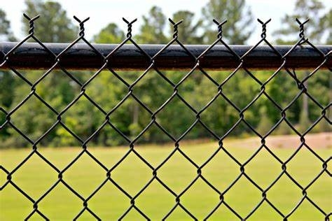 Vegetable Garden Chain Link Panels Regular Standard Temporary Fence PVC Coated / Galvanized